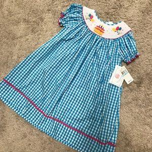 Other - Smocked birthday dress